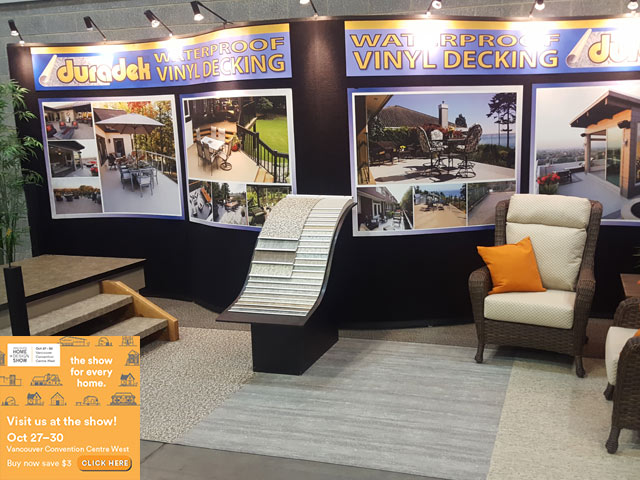 Vancouver Fall Home Show 2016 - Duradek Booth