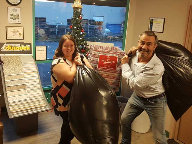 Duradek Donating to the 2018 GVHBA Coats for Kids Campaign