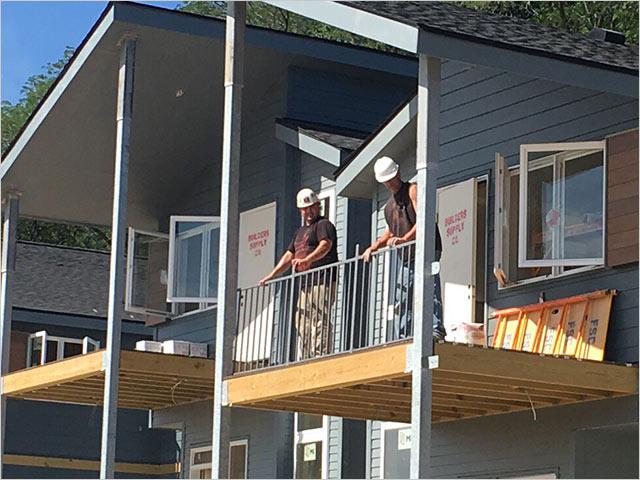 Building a deck adding railings