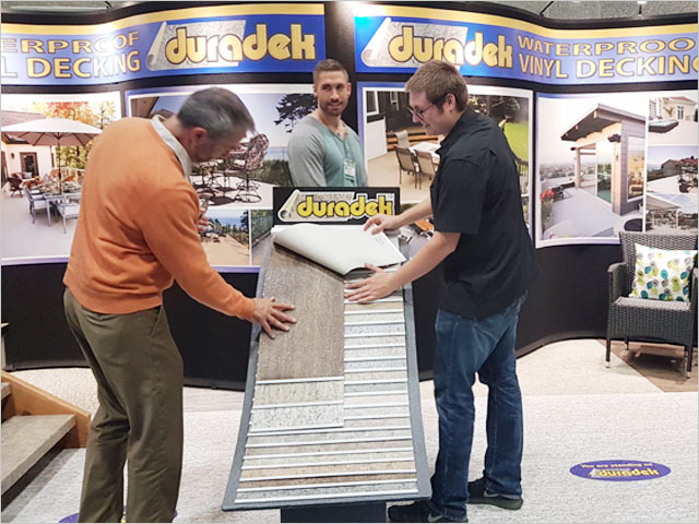 Duradek booth at the Vancouver Fall Home Show 2018