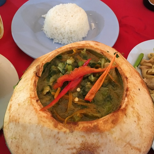Amazing Cambodia and Thailand Trip - Coconut Amok and Steamed rice Siem Reap Cambodia