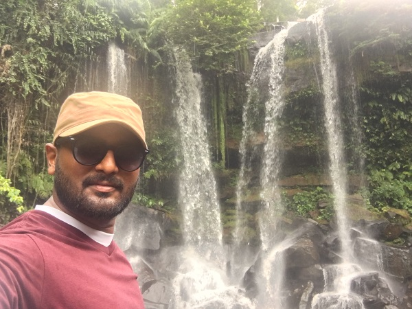 Amazing Cambodia and Thailand Trip - Selfie with Waterfalls