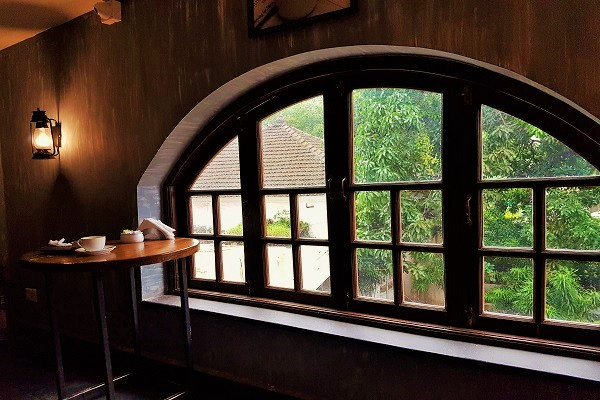 French Window - Black Vanilla Cafe Goa