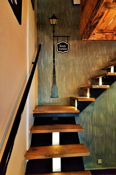 Staircase - Black Vanilla Cafe Goa