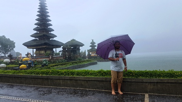 Heavy Rains at Pura Ulun Danu Beratan