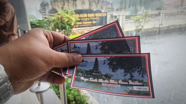 Pura Ulun Danu Beratan Ticket Price