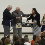 Presenting The Check To The Robotic Program At Betz School