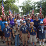 Bellevue Lodge No. 325, Alpha Chapter OES No. 325, Rainbow Girls Chapter #24 and Cub Scout Troop #464 to put up of the flags at the Bellevue Cemetery for Independence Day on July 4th.