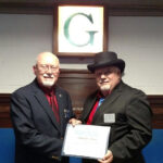 Dick Nieman, Past Master of Bellevue Lodge No. 325, was presented with the Daniel Carter Beard Masonic Scouter Award