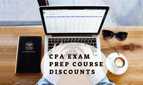 List of CPA Exam Prep Course Discounts