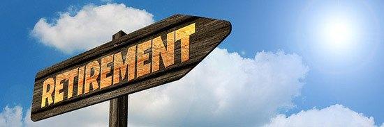 wooden retirement sign