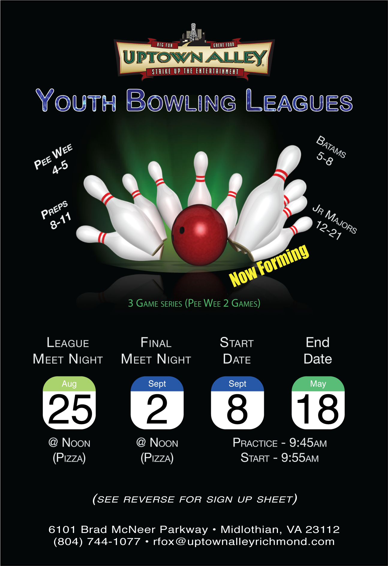 Uptown Alley Richmond Youth Bowling League 2018