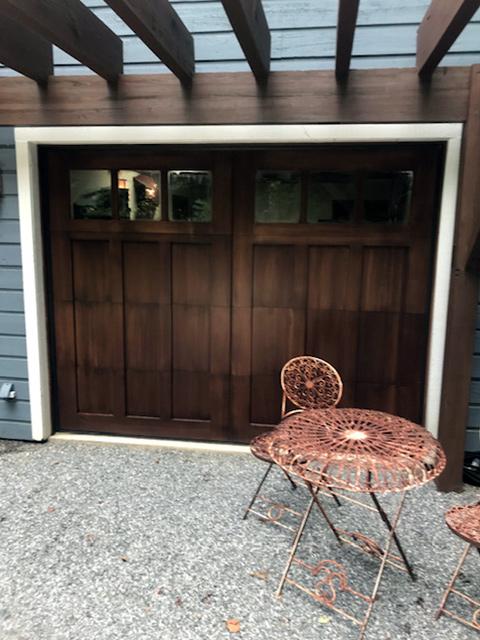 tall-brown-garage-door-patio