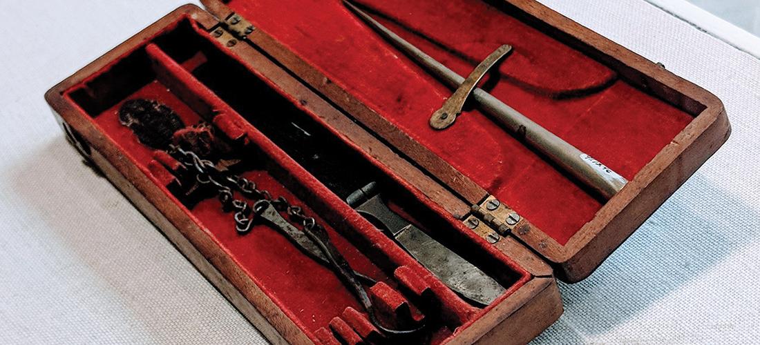 Annie Alexander's medical tools