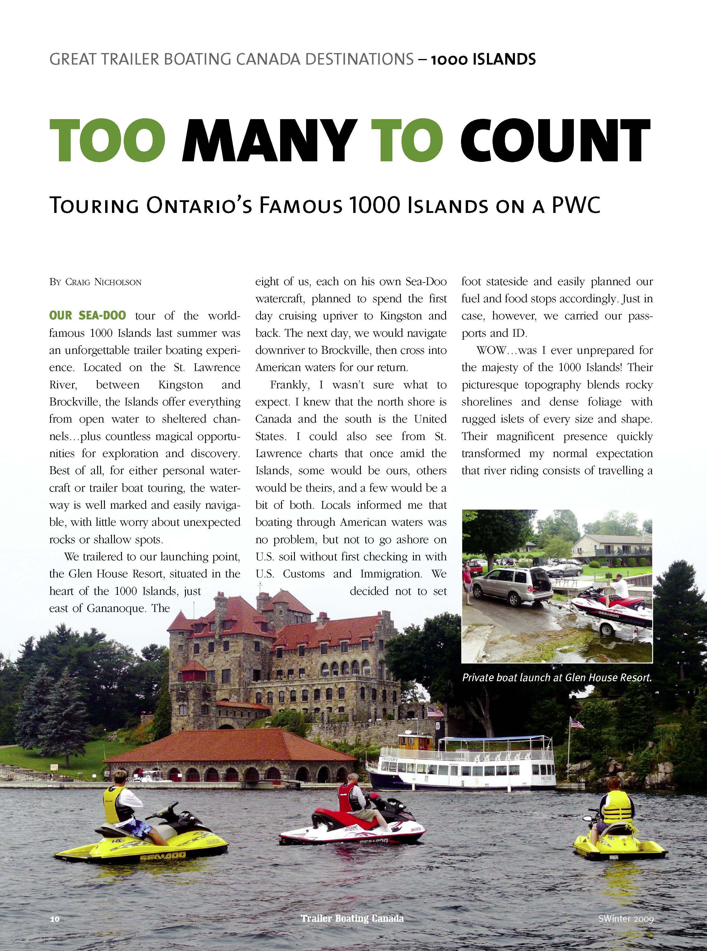 1000 Islands Sea Doo Tour