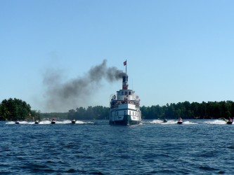 Photo of a tour boat on Muskoka Sea Doo Tour