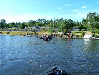 Waterfront and docks at Valois Motel & Restaurant, Mattawa, Ontario Sea Doo Lodgings