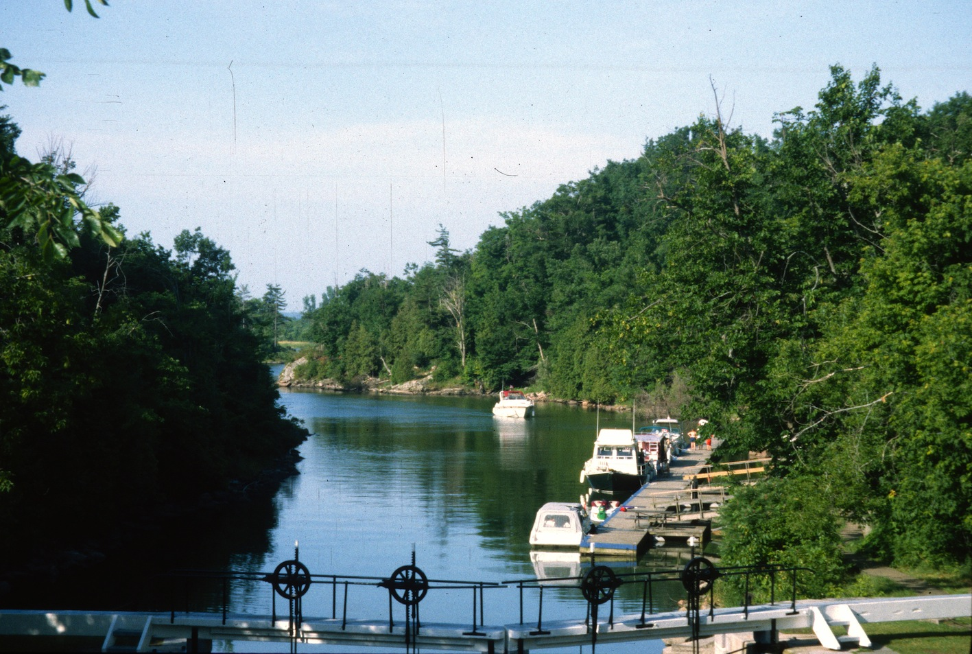 Scenic view from top of the lock on the Rideau Canal Sea Doo Tour