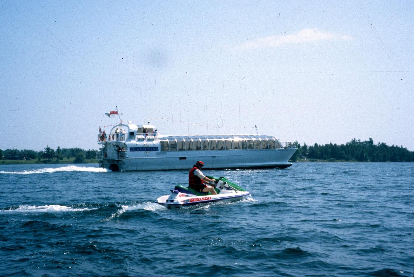 Cruise boat near Rockport on the Rideau Canal Sea Doo Tour