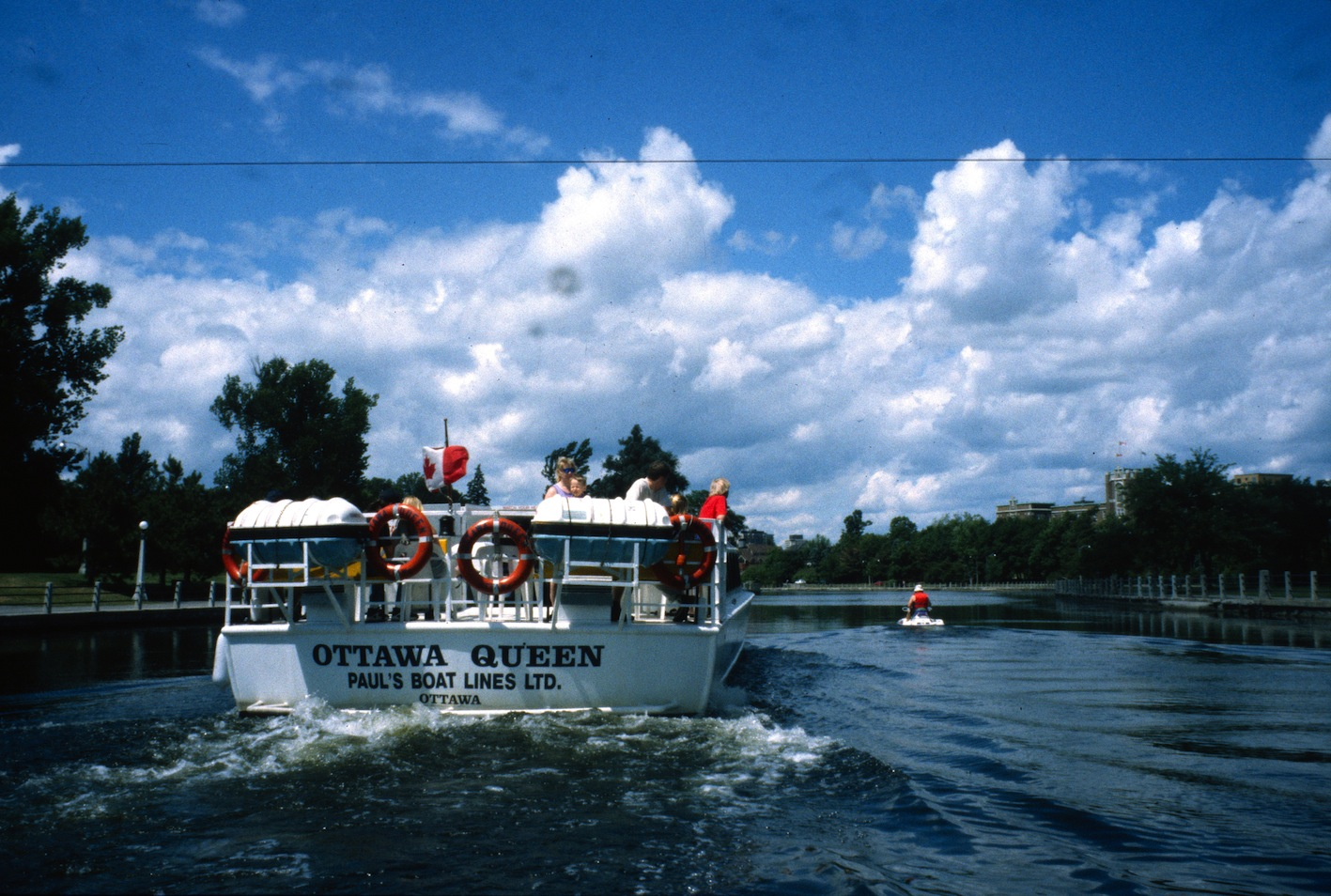 Cruise boat near Dow's Lake on the Rideau Canal Sea Doo Tour