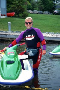 Me, ready to ride on the Rideau Canal Sea Doo Tour