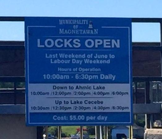 This lock separates the Magnetawan River Ontario from Ahmic Lake