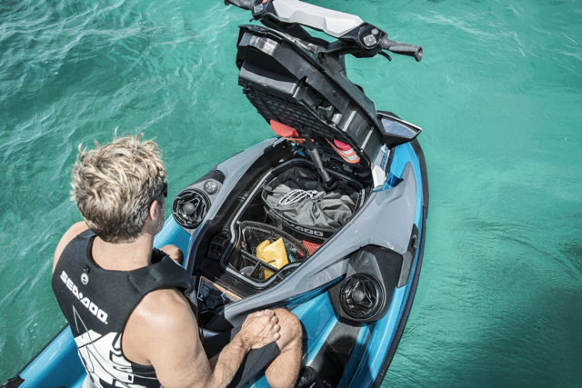 Sea Doo Storage under the hood