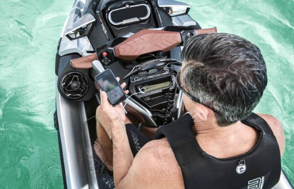 BRP audio premium system on the new Sea Doo platform