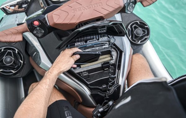 Waterproof and shockproof glove box on the new Sea Doo platform