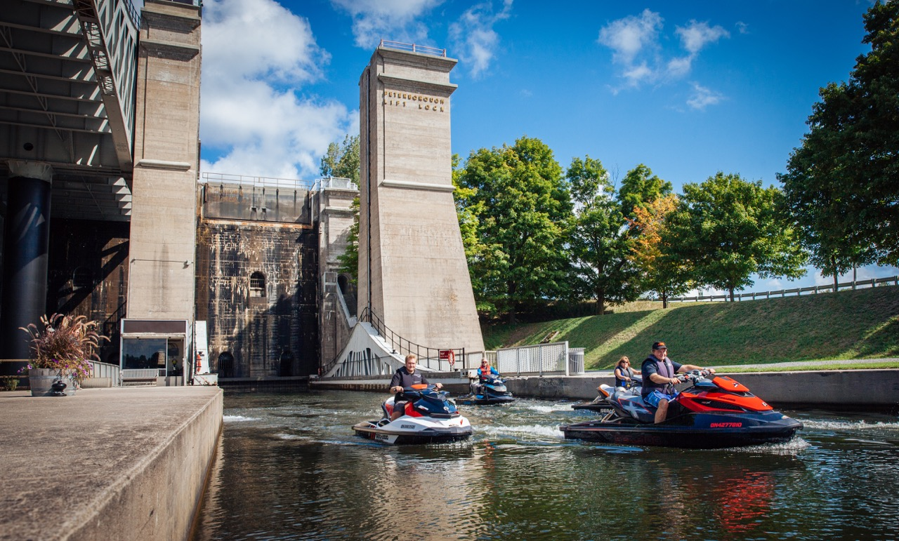 best trent severn waterway PWC day rides include Peterborough Lift Lock