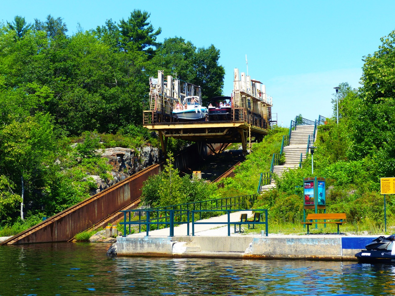Engineering marvel on best trent severn waterway PWC day rides