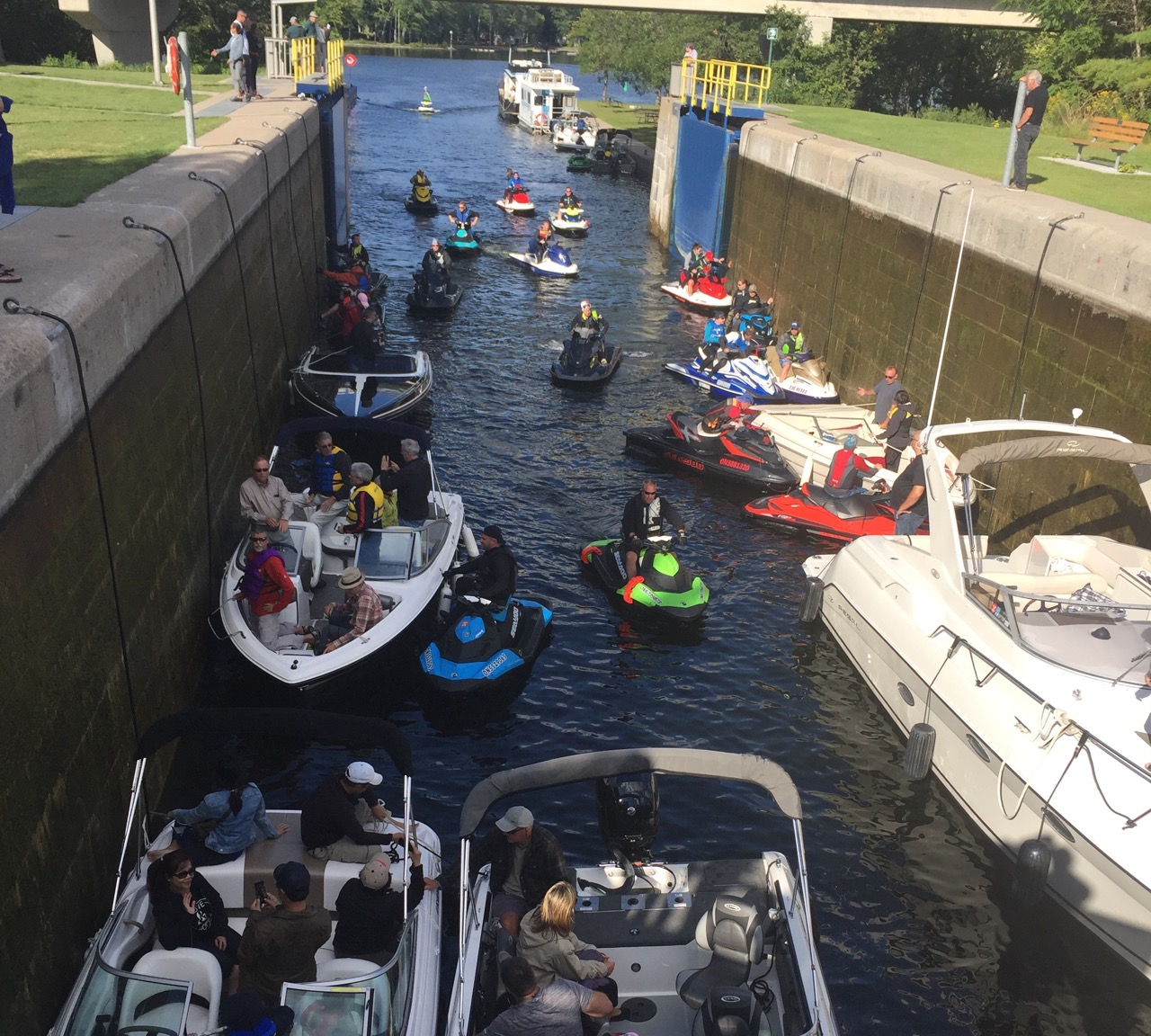 Locking thru on best trent severn waterway PWC day rides