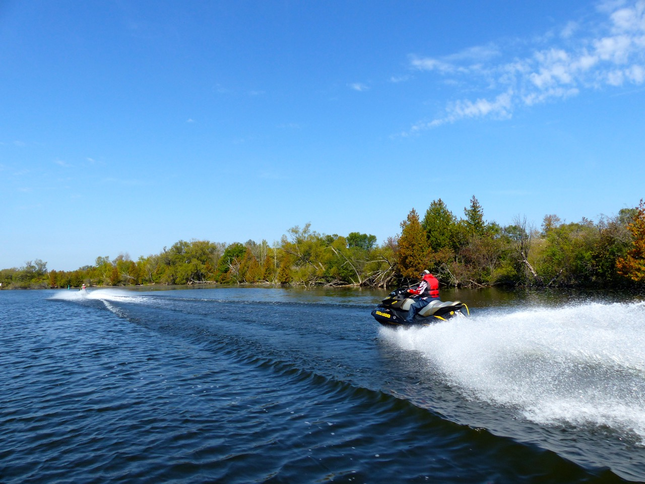 Lake Scugog section of Port Perry Bobcaygeon Sea Doo Tour