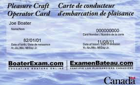 Ontario boating regs state you must carry this card
