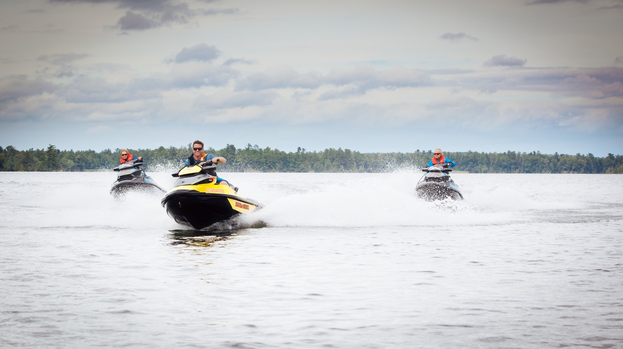 No speed limit on the water according to Ontario boating regs