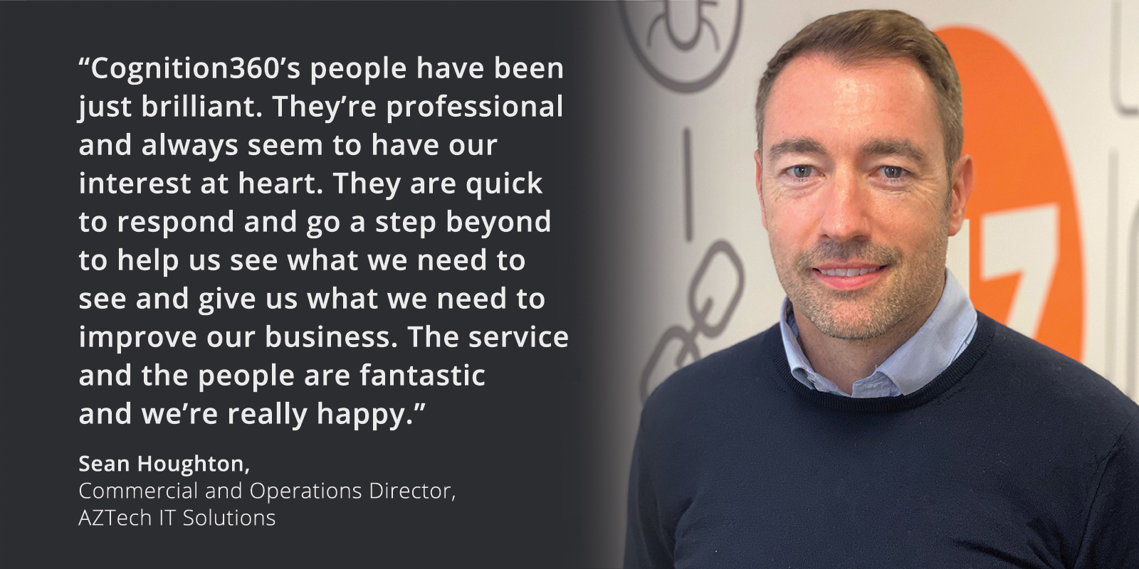 AZTech IT Solutions quote banner - Sean Houghton