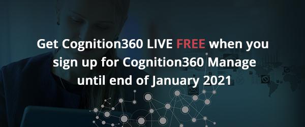 Cognition360 Manage + Cognition360 LIVE offer - December 2020