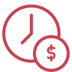 Time-money icon - C360 pink