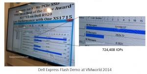 Dell Express Flash Demo at VMworld 2014