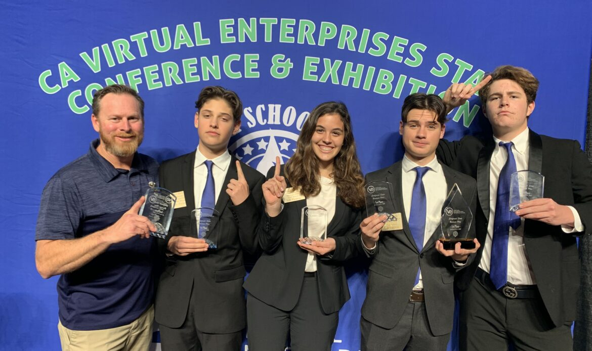 San Juan Hills High business students take state title in Virtual Enterprise with 'Sole Purpose'
