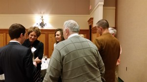 Rep. Liz Pike, Rep. Lynda Wilson and City Councilmember Bill Turlay engage in discussion following the reception.