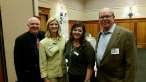 Vicki with Art, the Executive Director of BIAW, and friends.