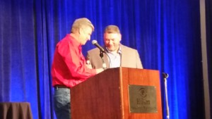Todd Lamberstson - Dell customer - awarded at SIC Conservationist Dinner 040216