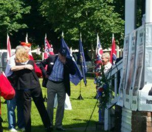 Crowd hugging pic Memorial Day