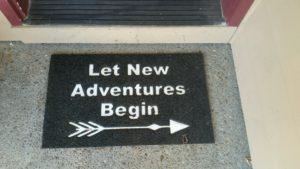 New Adventures doormat