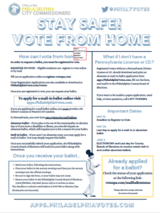 Vote from Home Flyer