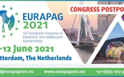 Important Announcement regarding postponement EURAPAG 2020