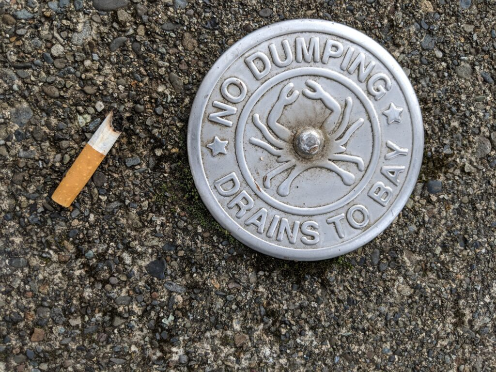 Storm drain medallion-downtown Coos Bay