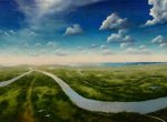 Mississippi-River-at-and-near-Red-Pass-Gulf-of-Mexico.-.-Oil-on-canvas-each-15-x-30.-