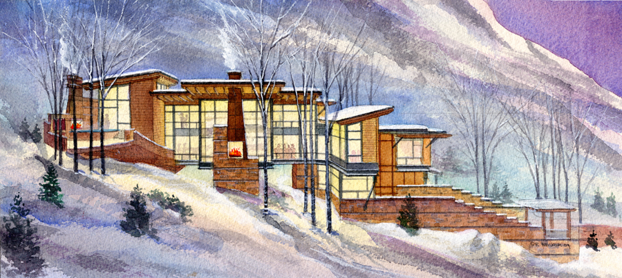 Hazard Destination residence watercolor